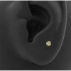 Gold Swarovski Zirconia Flower - Threadless