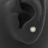Gold Swarovski Zirconia Opaal Disc - Threadless