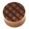 Circle Pattern Plugs - Sawo Wood