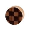 Weaved Squares Plugs  - Sawo Wood
