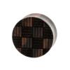 Weaved Squares Plugs  - Sono Wood