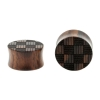 Weaved Squares Plugs  - Sono Wood