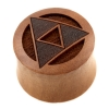 Triforce Plugs  - Sawo Wood
