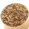 Teak Japanese Pattern Plugs - Bell Flowers