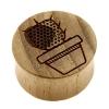 Teak Cactus Plugs - Cactus In Pot