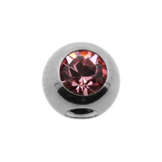 Jewelled threaded ball - 90 degrees