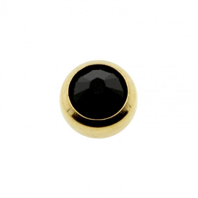 Mini threaded Ball with crystal