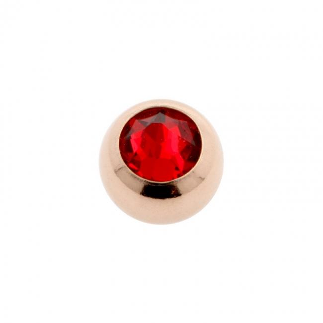 Jewelled threaded mini ball