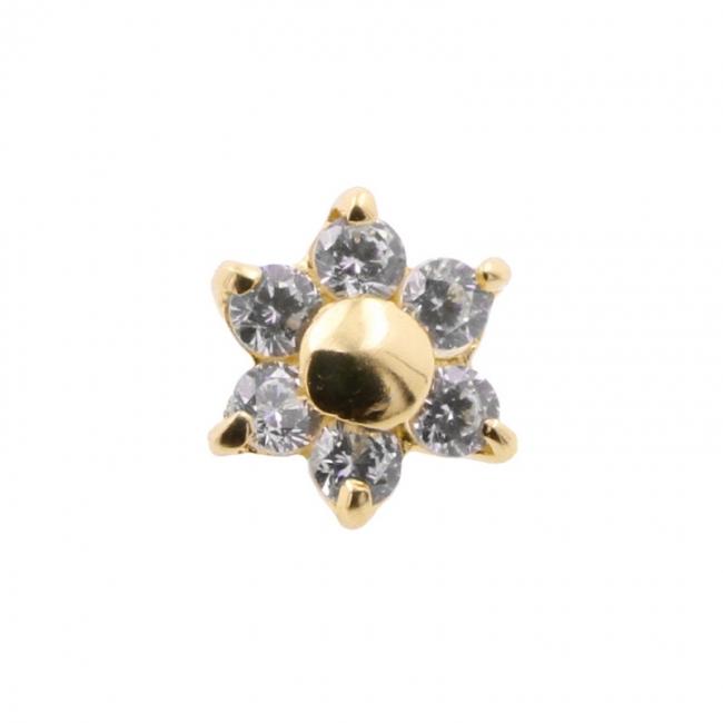 Microdermal Bloem met Swarovski™ Gems