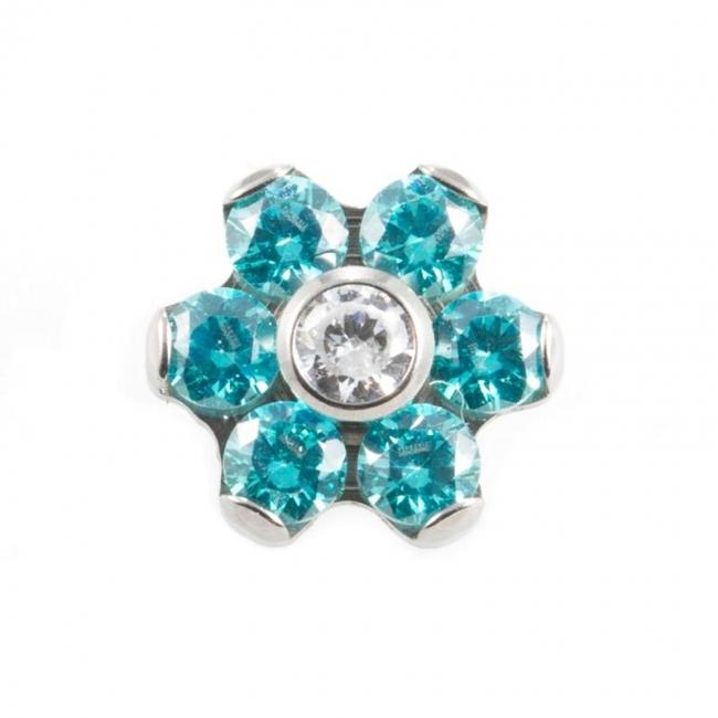 Titanium Zirconia Flower - Voor 1,2mm sieraden
