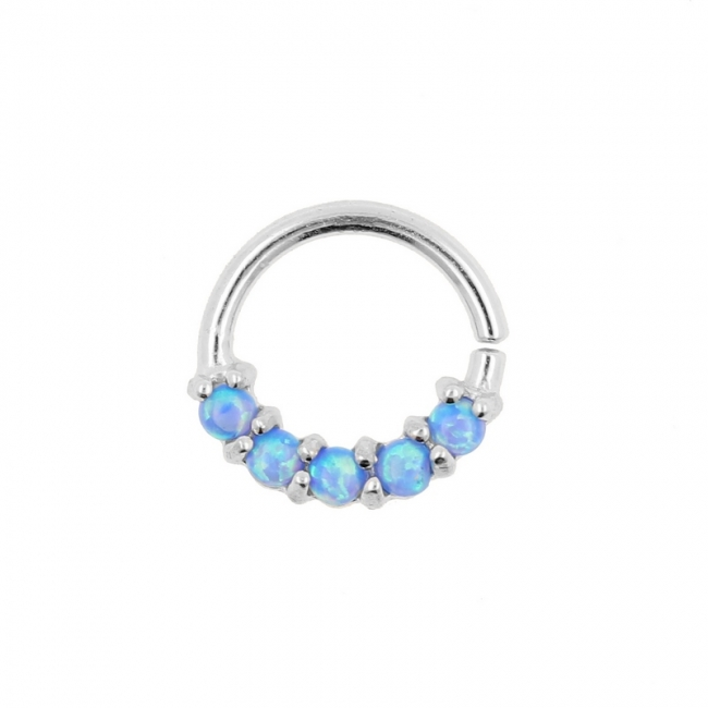 White Gold Ring With 5 Opals