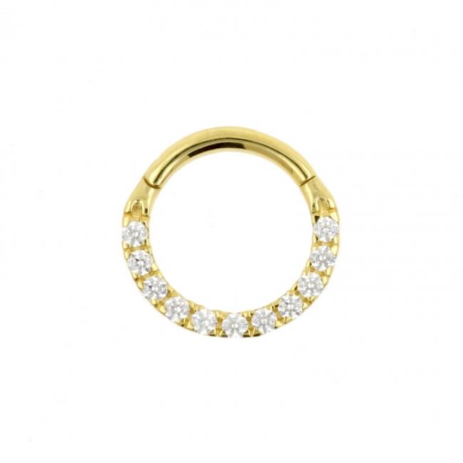 Gold Swarovski Zirconia Ring