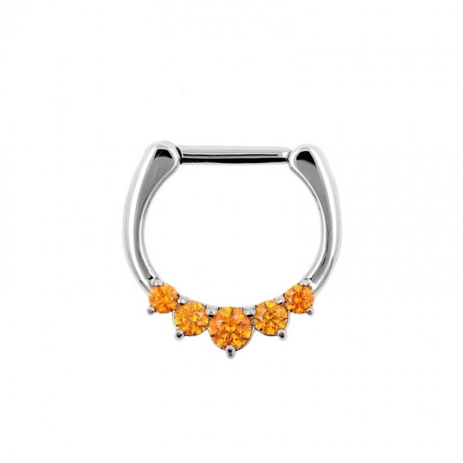 Septum Clicker With Swarovski Gems