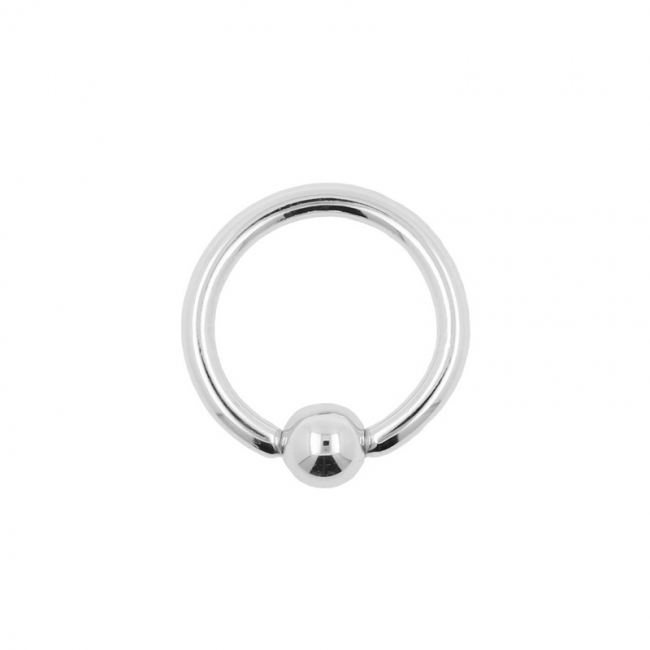 White Gold Ball Closure Ring
