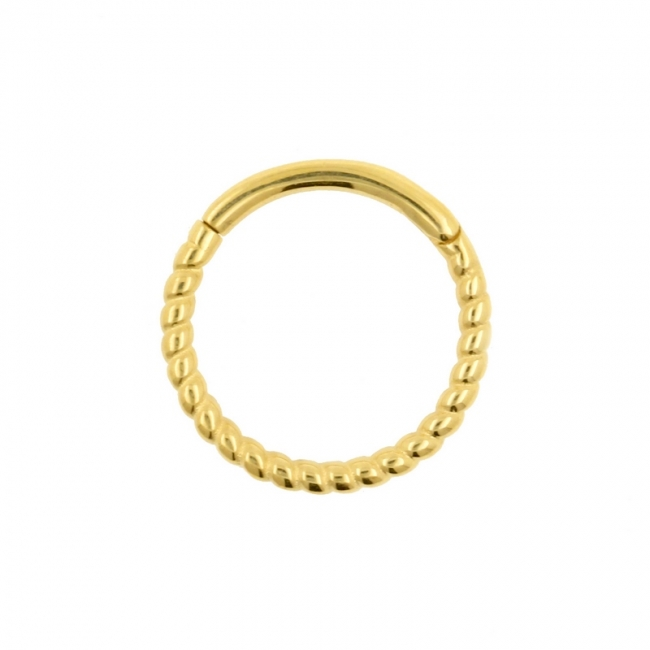Gold Braided Click Ring