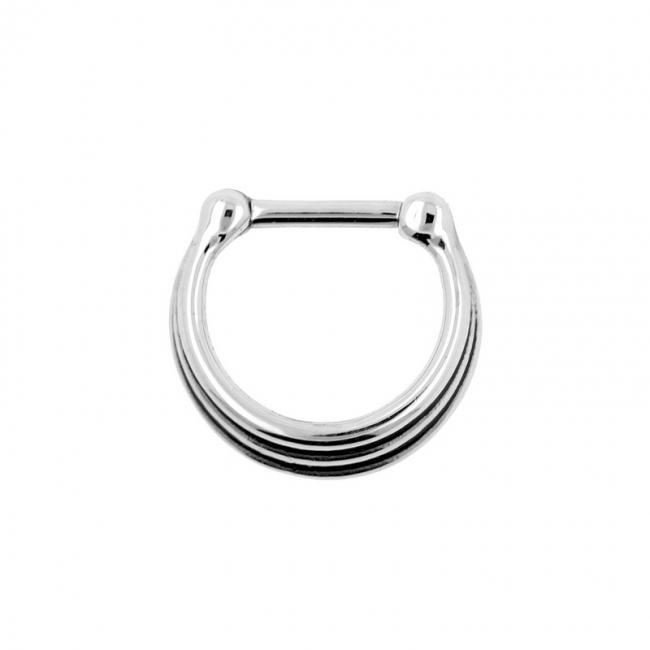 Triple Ring Septum Clicker - Shaded