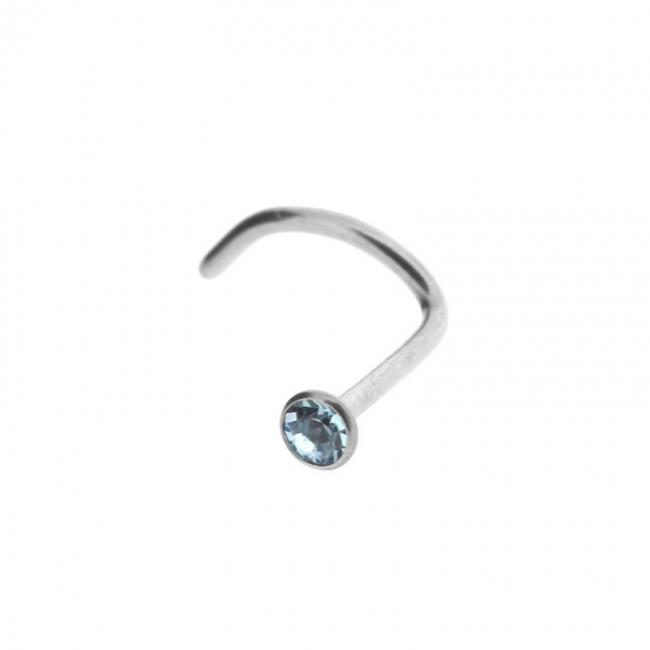 Jewelled Titanium Nosestud