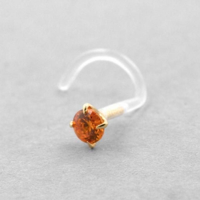 Bioplast Nosestud - Gold Insert Zirconia