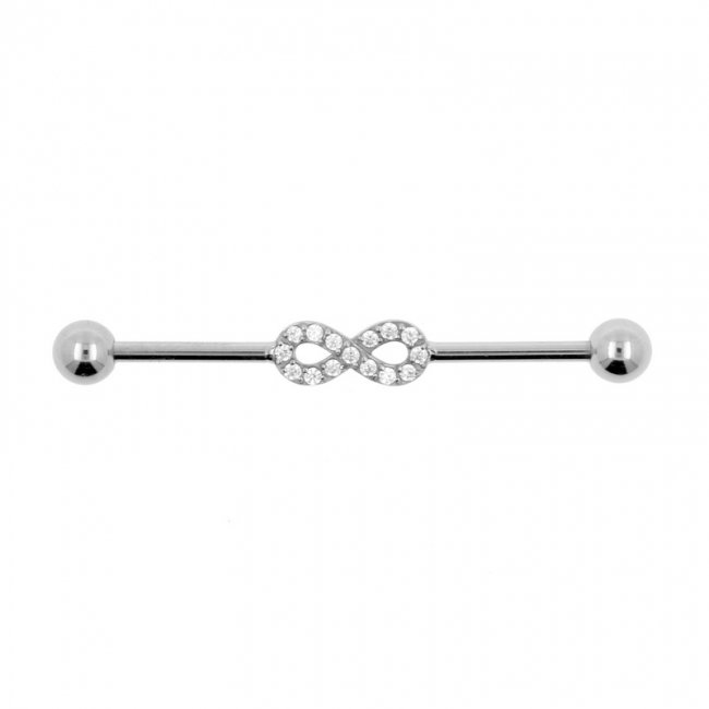 Jewelled Industrial Barbell - Infinity
