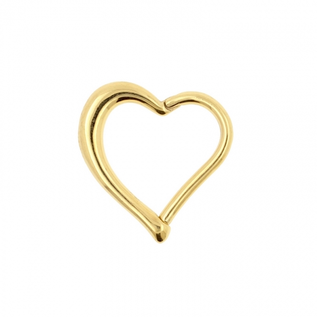 Heart Shaped Click Ring