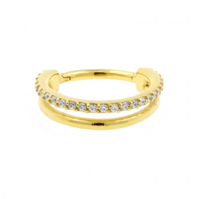 Fake Jewelled Septum Ring