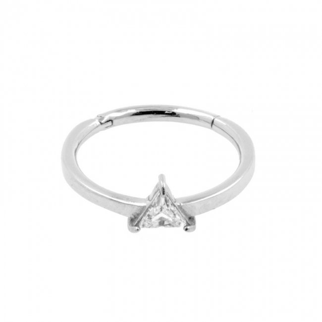 Conch Clicker - Set with Triangle Cubic Zirconia