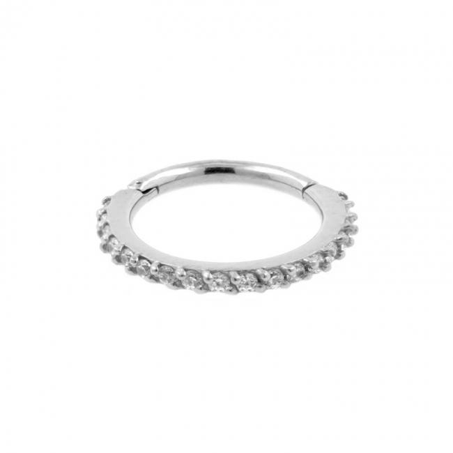Helix Click Ring With Swarovski Gems