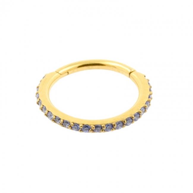 Jewelled Click Ring With Swarovski Gems