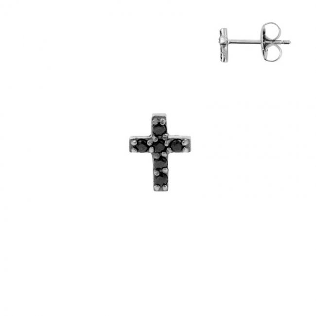 Ear Studs - Zirconia Cross
