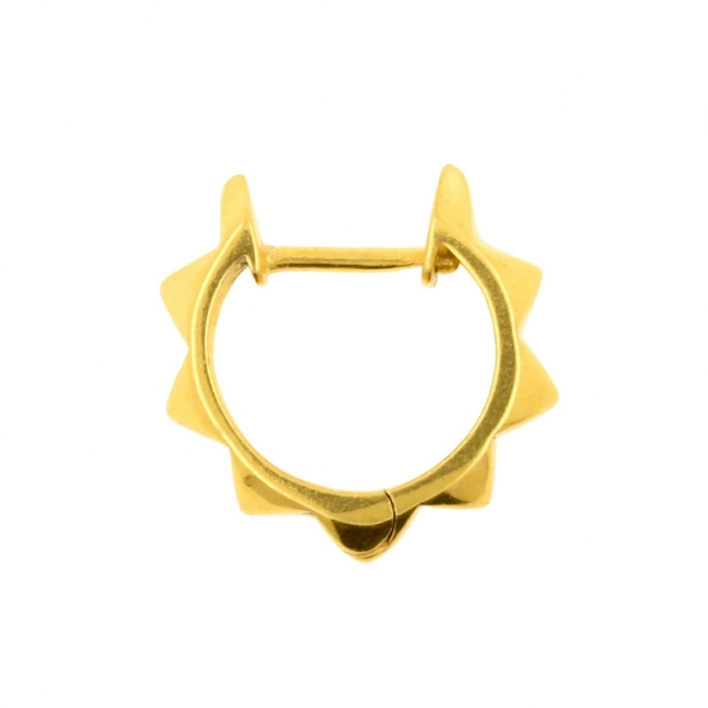 Click Hoop Earrings - Pyramids
