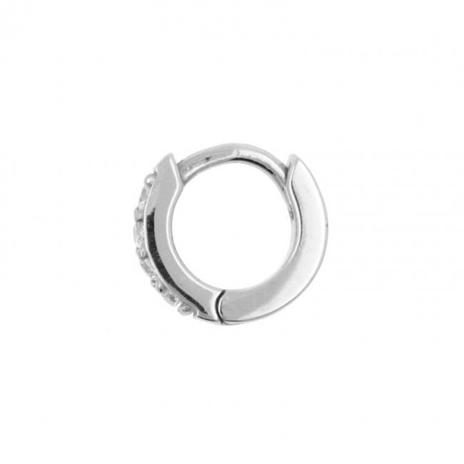 Click Hoop Earrings - Zirconia