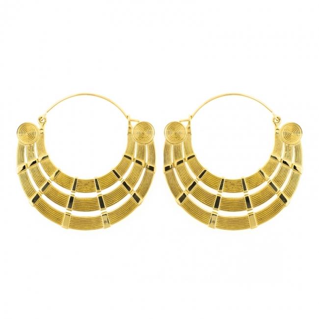 Brass Hoops - Rays