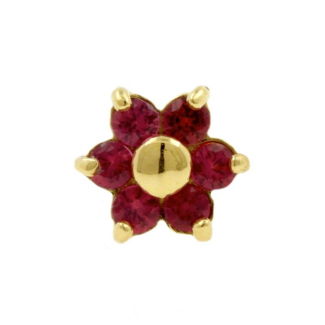 Gold And Ruby Flower