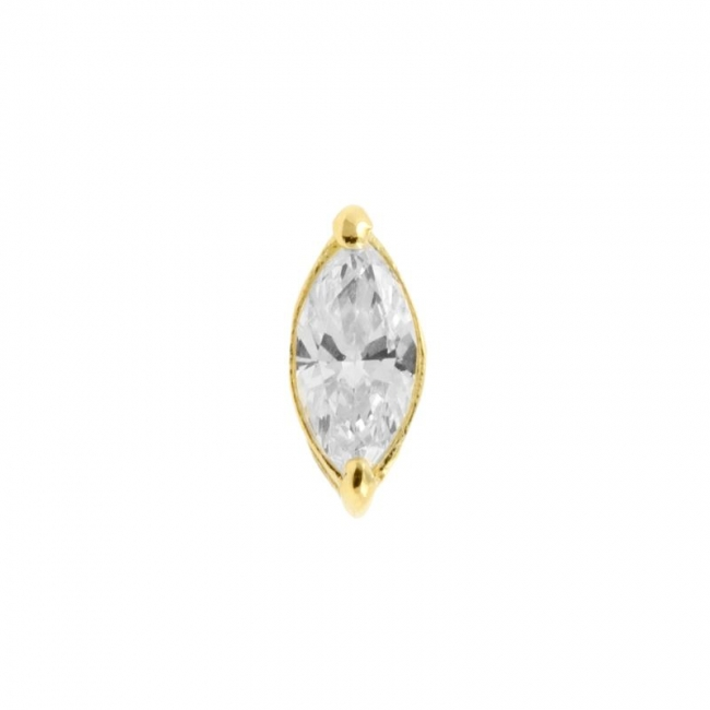 Gold Marquise Zirconia