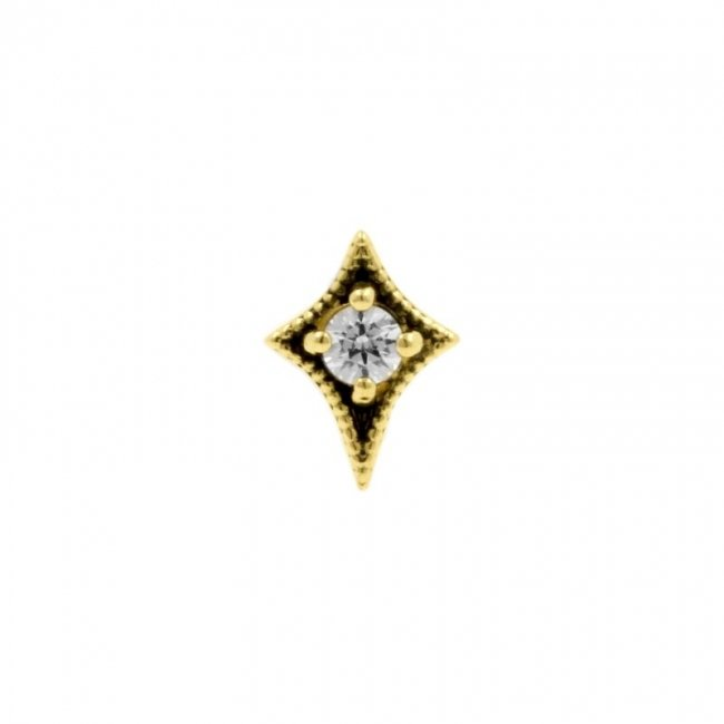 Gold Swarovski Zirconia Dotted Star