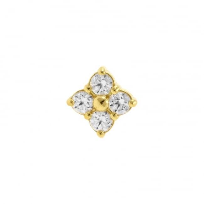 Gold Swarovski Zirconia Clover