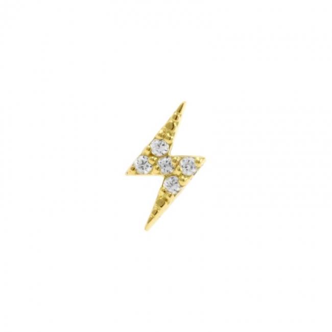 Gold Swarovski Zirconia Flash - Left