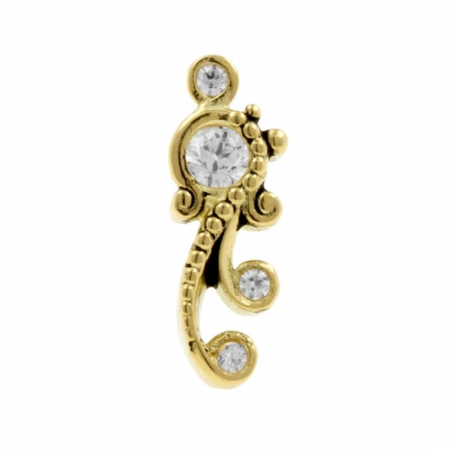 Gold Swarovski Zirconia Ornament - Right