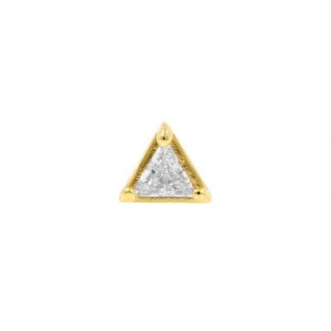 Gold Swarovski Zirconia Triangle