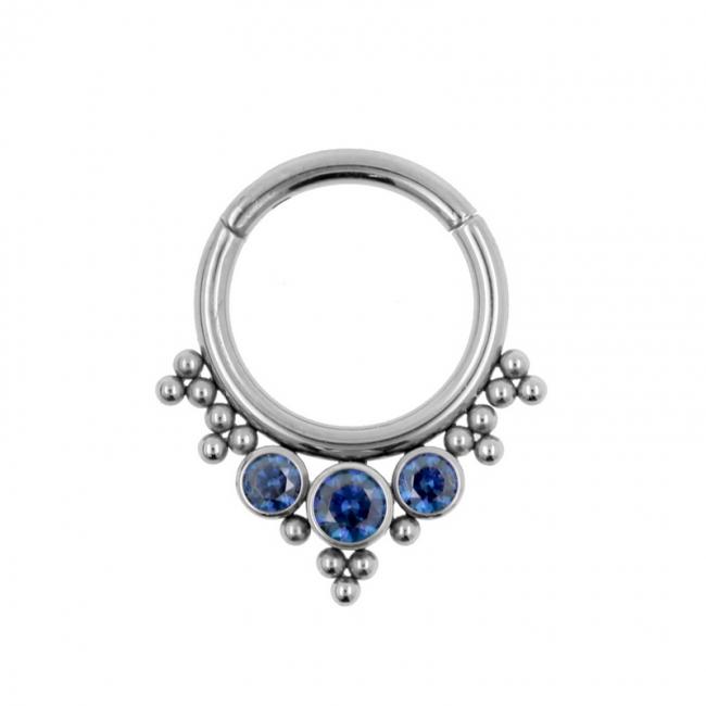 Titanium Swarovski Cluster Click Ring