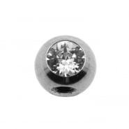 Jewelled threaded ball - 90 degrees