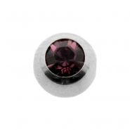 Jewelled clip-in ball