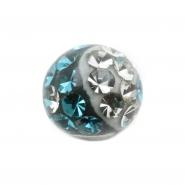 Multi jewelled ball Yin-Yang