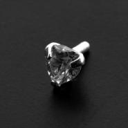 Crystal insert for Bioplast labret: Heart