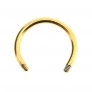 Circular barbell post