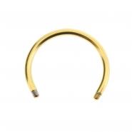 Mini circular barbell post