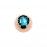 Jewelled threaded mini ball