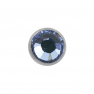 Jewelled disc - for 1,6mm piercing jewelry