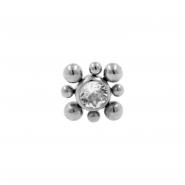 Push-Fit Titanium Swarovski Cluster