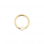 Gold Fixed Opal Ball Closure Ring